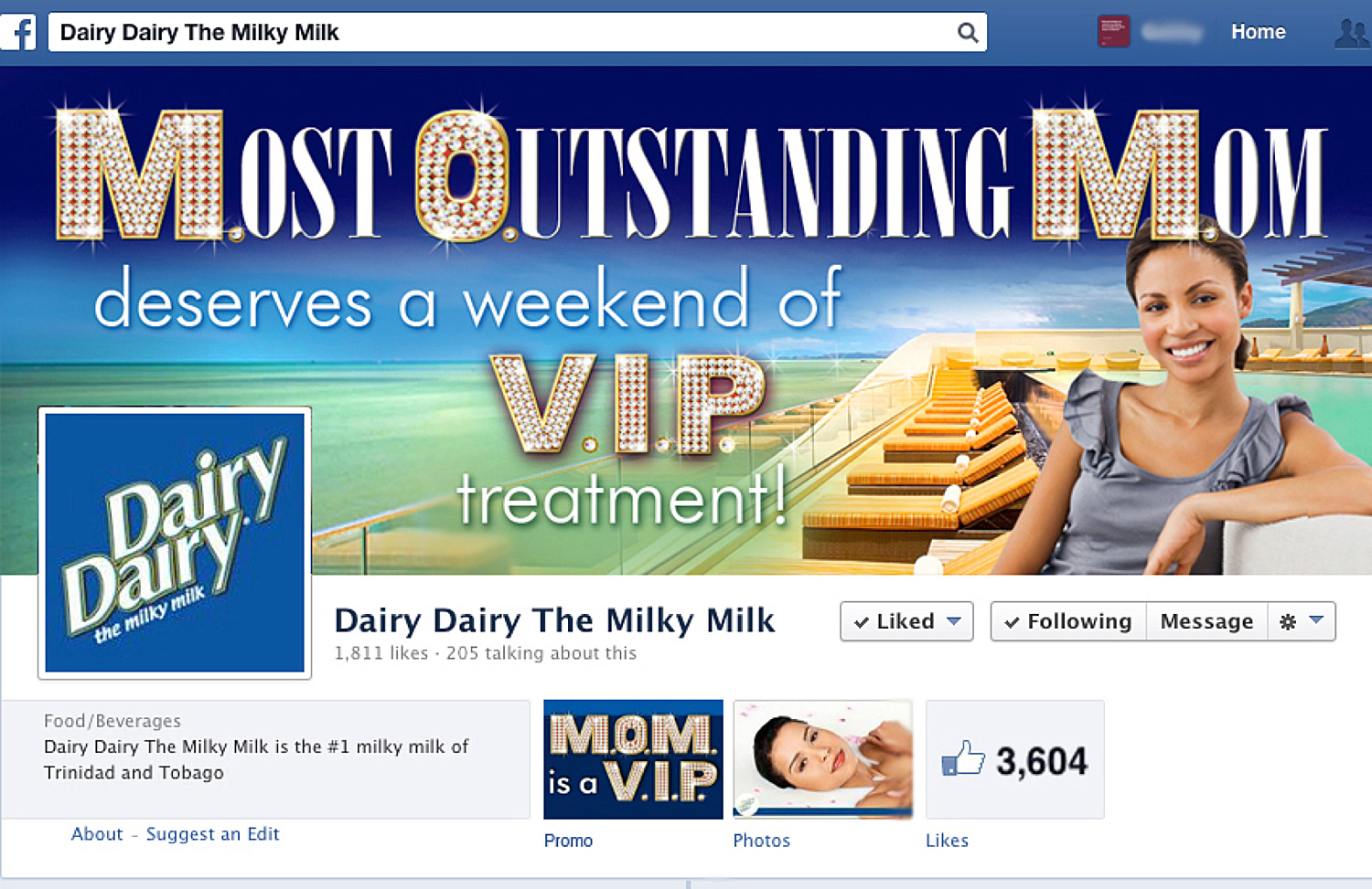 M.O.M. is a VIP Facebook Promotion